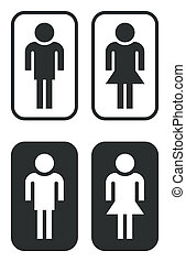 toilet signs