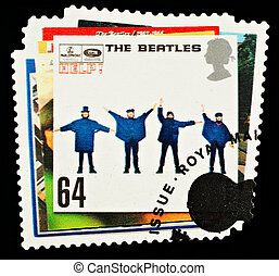 Postage Stamp - UNITED KINGDOM - CIRCA 2007: A British Used...