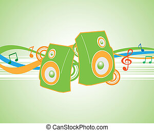 Vector illustration musical theme.