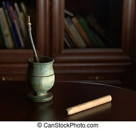 Yerba mate and cigar for relaxation