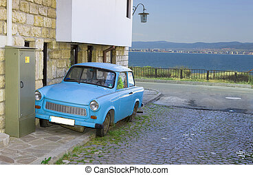 Old car in the street - Bulgaria, city Nesebr, Old car in...