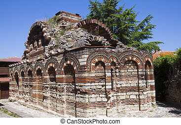 Bulgaria, the city of Nesebr, ruin of ancient temple