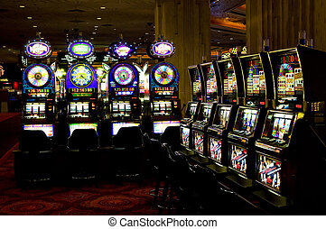 ranhura, máquinas, las, vegas, Nevada