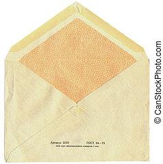 back of old soviet mail envelope