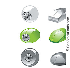 webcam and mice icons