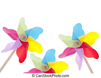 Colorful Pinwheel Background Summer Concept Border Image