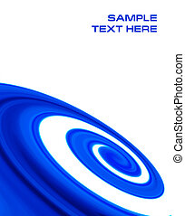 abstract blue curves background