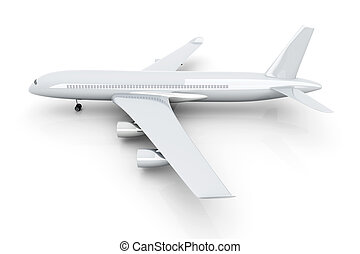 Generic Airplane	 - 3D rendered Illustration.