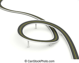 Road isolated on white background