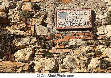 Street sign in Segovia