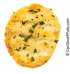 garlic bread isolated on a white background