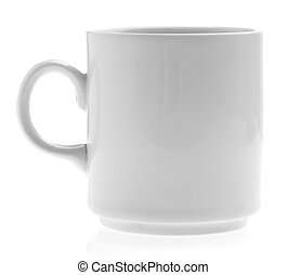 mug - breakfast mug isolated on a white background