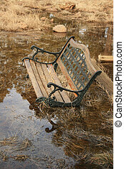 old flooded bench