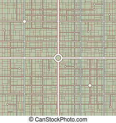 Streetmap - Simple vector road map background in subdued...