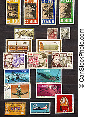 Used stamps from communist East Germany
