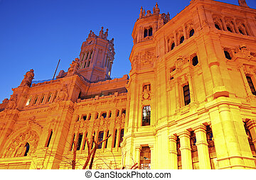 Palacio de Comunicaciones in Madrid, Spain.