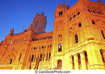 Palacio de Comunicaciones in Madrid, Spain.