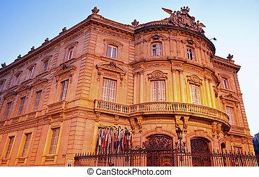 Palacio de Lineares in Madrid, Spain.