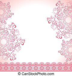 Abstract feminine frame - Illustration vector