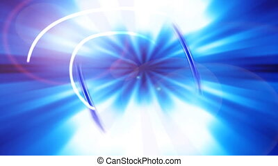 Blue Motion with Lens Fare - Blue motion background with...