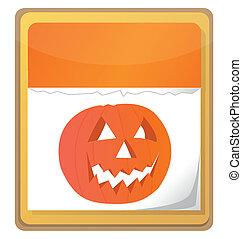 halloween pumpkin calendar
