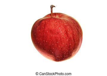 cameo apple - red Cameo apple isolated on white