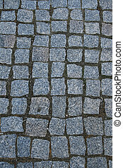 granite pavers - cubed granite paver stone background