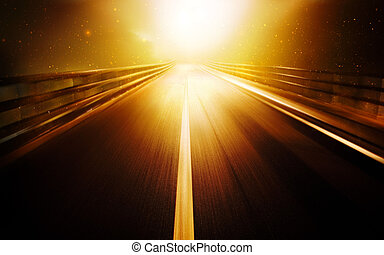 Afterlife - Road leads into the bright light