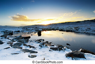 Peaceful Winter Brook - Moody Brook in the Falkland Islands