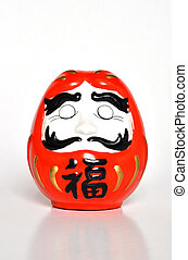 blessings Daruma doll - a No eyes blessings Daruma doll
