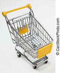 Empty shopping cart - Image of an empty shopping cart...