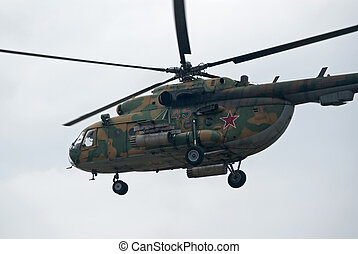 Mi-8 helicopter closeup