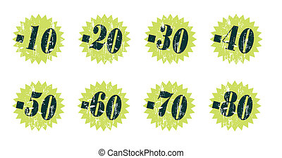 grunge tag stickers with discount