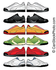 sport shoes illustration