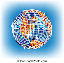 discoball earth