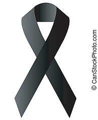 black ribbon - ribbon black problem message arrow