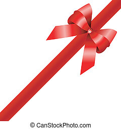 red gift , ribbon