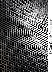 Speaker grille - Photo of a loudspeaker grill as a...