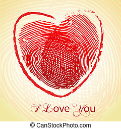 love with thumb impression