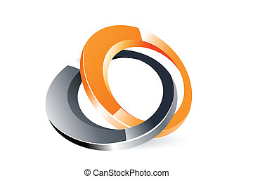 stylish logo - illustration of logo on white background