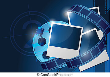 reel with picture - illustration of reel with picture on...