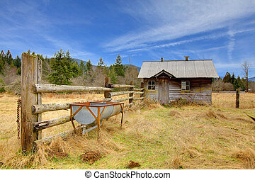 Cute small very rustic shed on the farm land - Build in 1907...