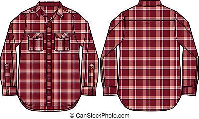fashion men shirt illustration