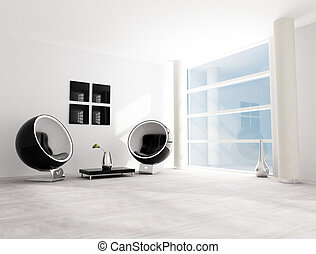 black and white fashion lounge