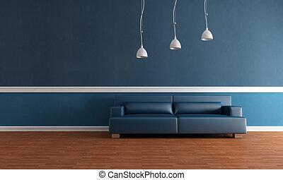 elegant blue interior