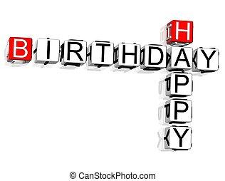 Happy Birthday Crossword