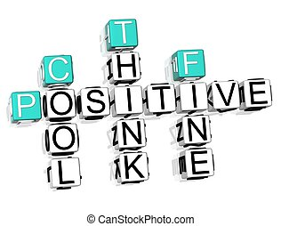 Possitive Crossword - 3D Possitive Crossword text on white...