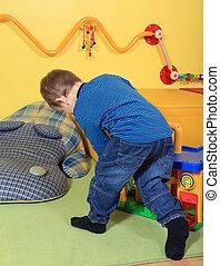 Playing in kindergarten