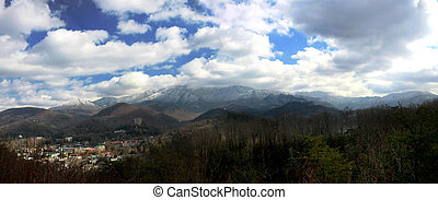 Gatlinburg - Overlooking the vacation town of Gatlinburg...