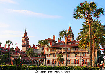 St. Augustine City Hall & Lightner Museum, Florida, USA -...